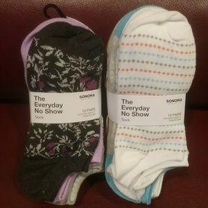 NWT SONOMA 20 Pair Low-Cut Socks Final Price
